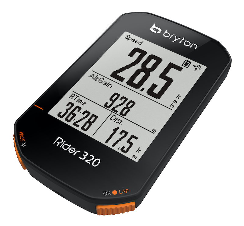ブライトンのGPSサイクルコンピューターにベーシックモデル「Rider320」が登場