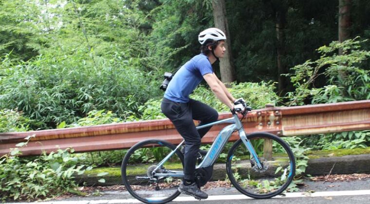 ジャイアントストアびわ湖守山でeバイクを借りて取材に使ってみた!
