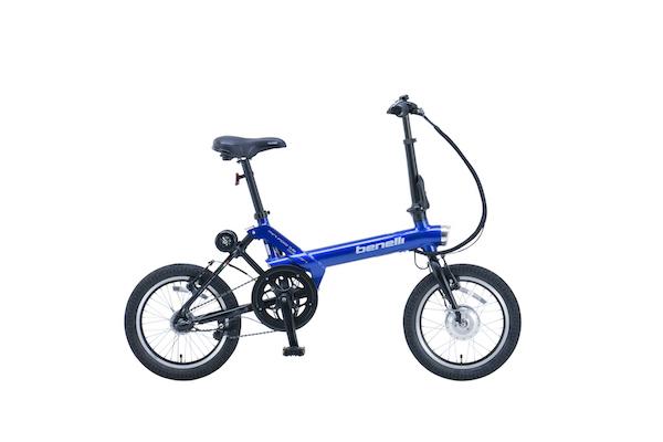 ベネリの折りたたみ電動アシスト自転車「ミニフォールド16 ポピュラー」にニューモデル追加
