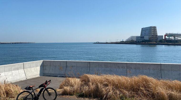 浮島町公園から望む東京湾