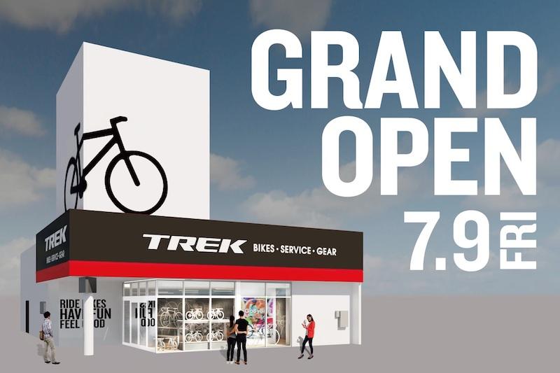 TREK Bicycle 静岡店、7/9オープン!eバイク試乗会も開催