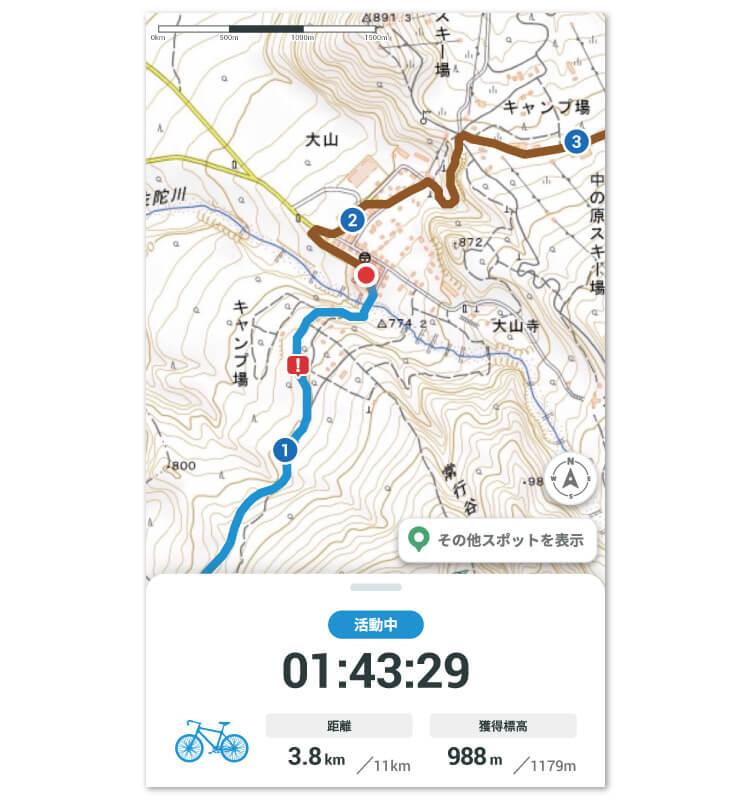 GPS地図機能