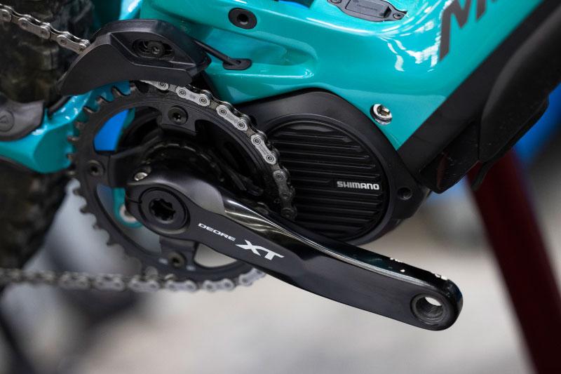 eバイクにはシマノ製部品が多く搭載される